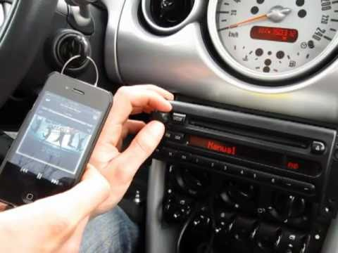 GTA Car Kits  Mini Cooper 20012006 install of iPhone, iPod and AUX adapter for factory stereo