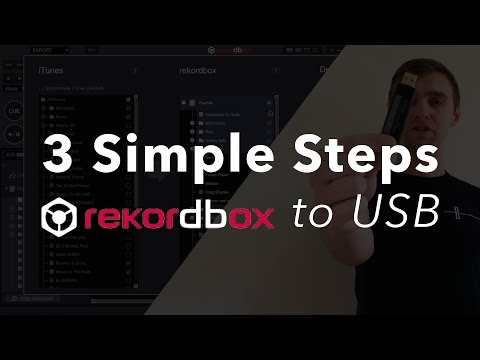 How to export to USB from Rekordbox