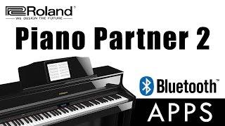 Piano Partner 2 Bluetooth App for Roland Digital Pianos