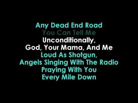 God, Your Mama & Me karaoke Florida Georgia Line