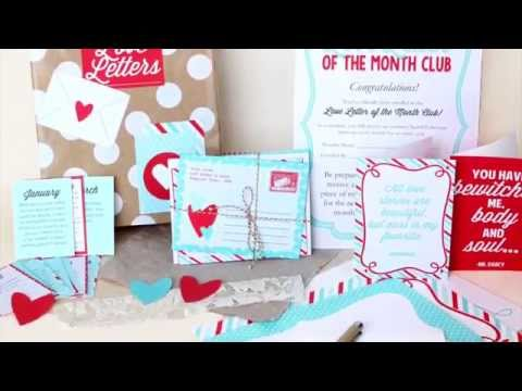 Love Letter of the Month Club