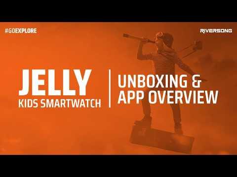 Riversong Jelly Kids Blue Smartwatch  (Blue Strap Regular)