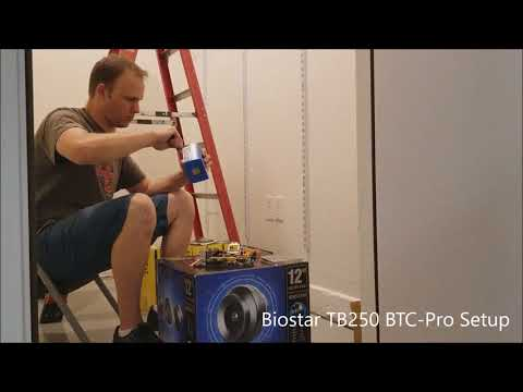 Biostar TB250-BTC Pro - Mining Rig Assembly