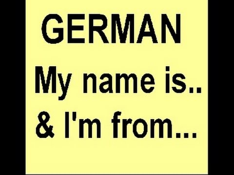 German Smalltalk How To Introduce Yourself Tell People From