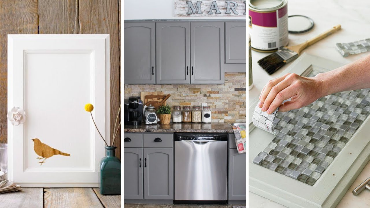 10 Cheap Cabinet Makeover Ideas For Limited Kitchen Youtube