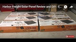 Harbor Freight Solar Panel Review and DIY - Episode 1