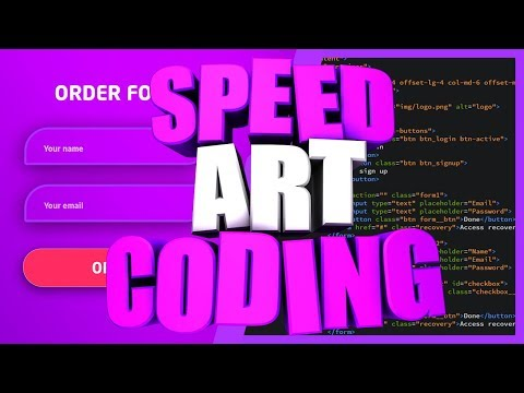 SPEED ART AND CODING WEBSITE    PHOTOSHOP TO HTML CSS