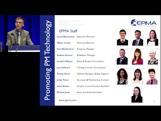 World PM2016 Plenary Session - Introduction from EPMA Executive Director - Dr Lionel Aboussouan