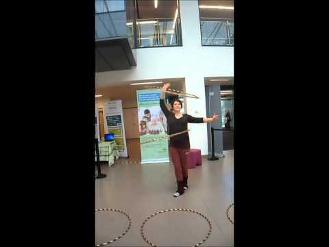 Hula Hoop Demo with L.A. Studios at Wiltshire County Health and Wellbeing Fair