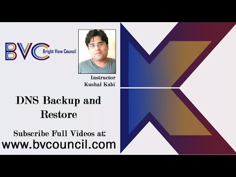 MCSE - Windows Server 2012 - DNS Backup And Restore - Class 15