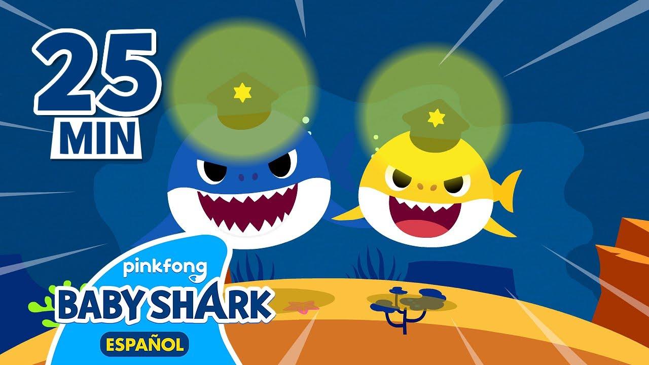 Download Agentes Tiburón y más canciones infantiles   Tiburón Bebé   +Recopilación   Baby Shark en español