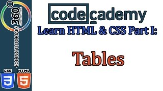 Tables: Learn HTML and CSS Part I CodeCademy Mp3