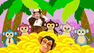 Monkey Banana-Baby Monkey | Animal Songs |Kids Liza Songs for Children
