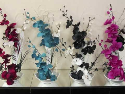 Artificial Silk Flower Arrangements And Bouquets Youtube
