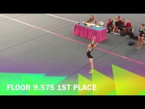 level 3 gymnastics meet 1st place all around