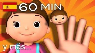 La familia dedo | Y muchas más canciones infantiles | ¡60 min de LittleBabyBum! HD