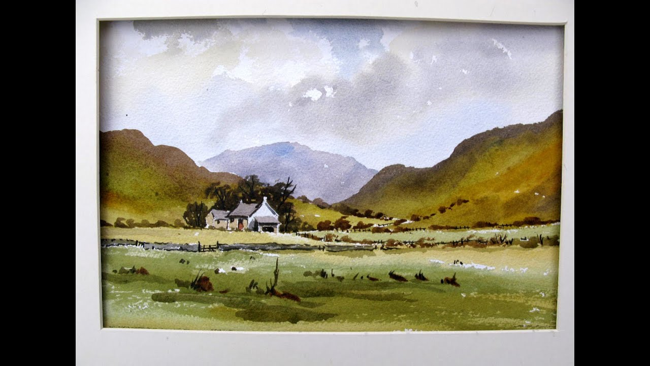 How to paint a lake district scene with alan owen youtube for Watercolor scenes beginners