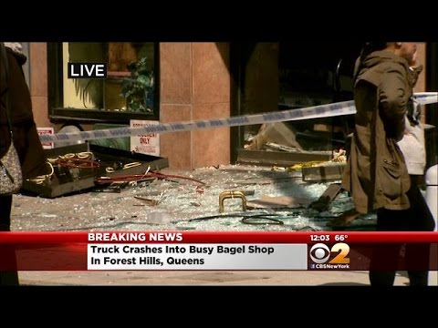 Truck Crashes Into Bagel Shop In Forest Hills, Queens; 6 Injured