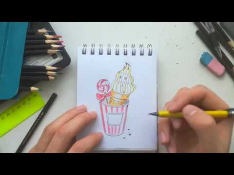 Марафон по рисованию цветным карандашами. День 7