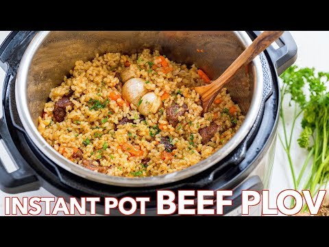 How To Make InstaPot Rice Recipe (Beef Plov Recipe)