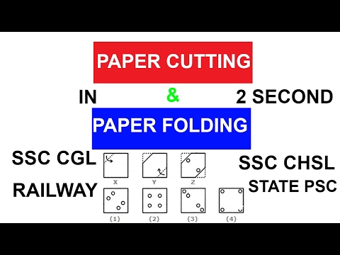Paper Cutting and Folding   Non-Verbal Reasoning   SSC CGL   SSC CHSL   RAILWAY
