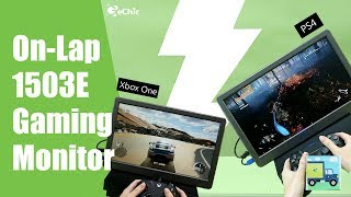 How to Play PS4 & XBox Outdoors on 1503E Portable Console Gaming Monitor?