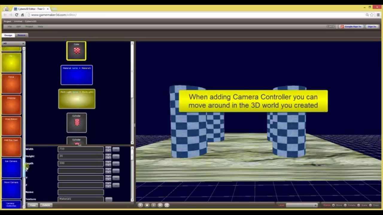 Cyberix3d free online 3d game maker textures and for 3d creator online
