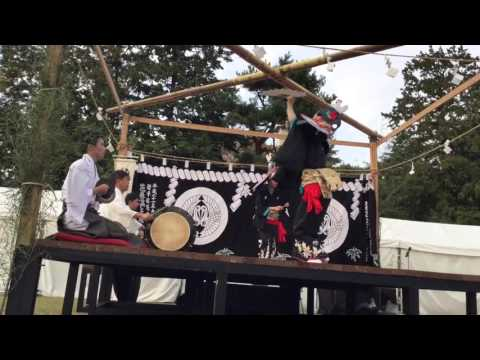 "Dance of Bird,Japanese Shinto music called Kagura ""Mt' Hayachine Kagura"" 鳥舞2"