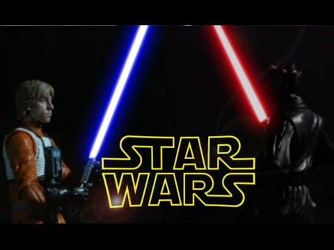 luke skywalker vs darth maul star wars black series stop motion - youtube
