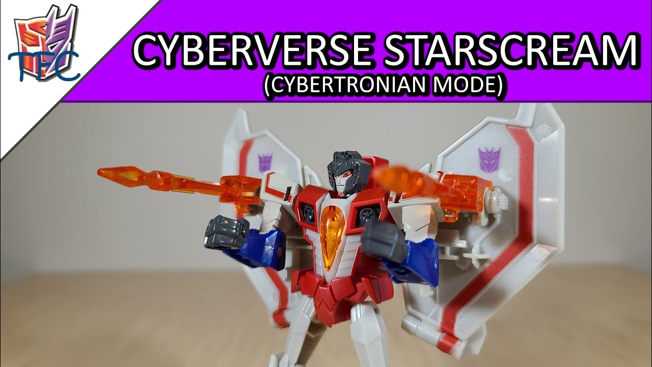 TF Collector Cyberverse Cybertronian Starscream Review!