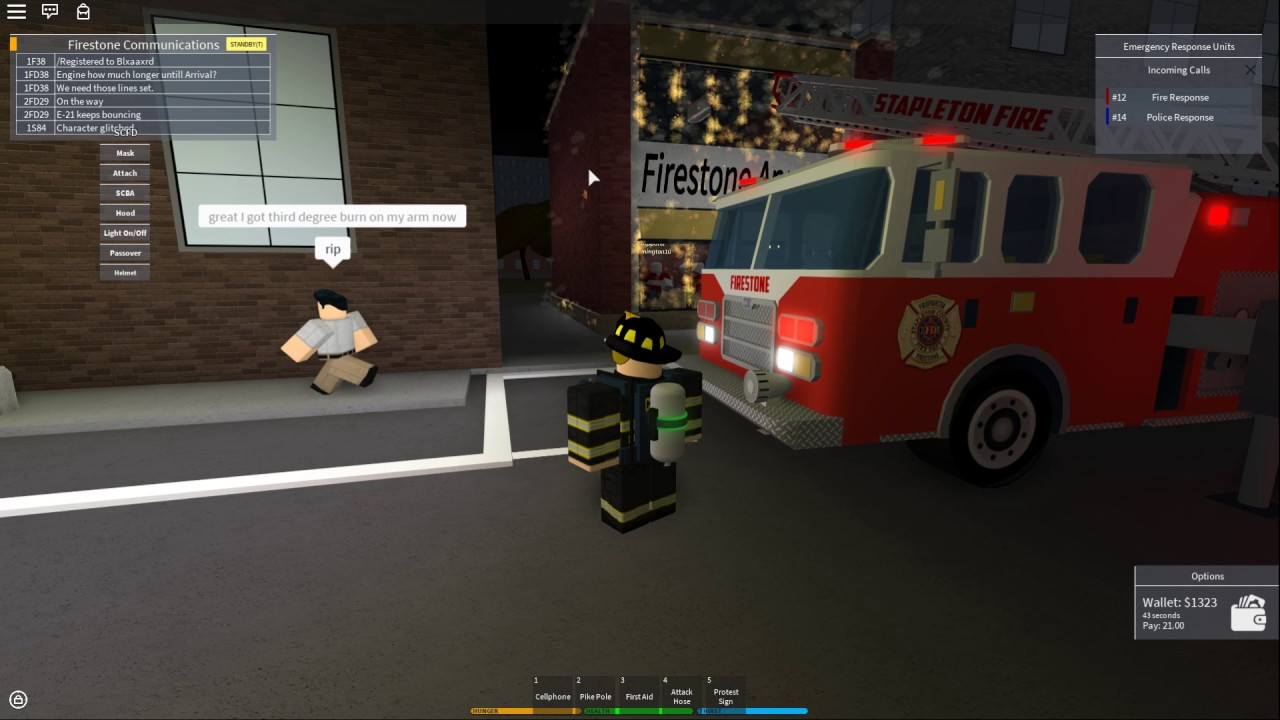 Being A Firefighter In Roblox Roblox Scfd Firefighter Youtube