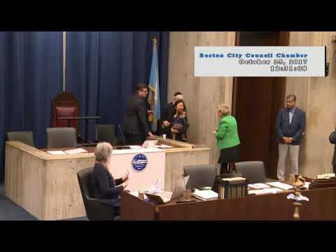 Boston City Council Meeting on October 25, 2017