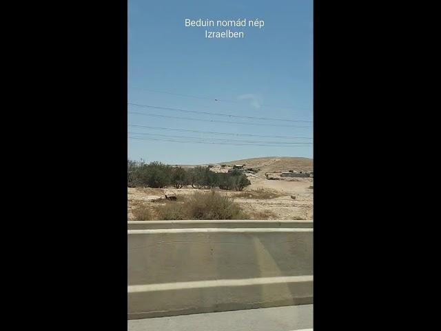 Izraelben a Beduin környék a sivatagban.