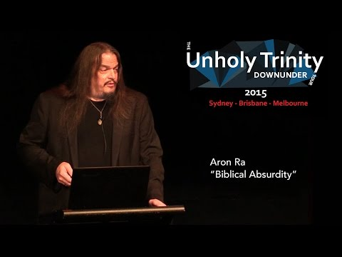 "Unholy Trinity Down Under: ""Biblical Absurdity"""