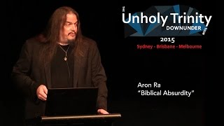 "Unholy Trinity Down Under: ""Biblical Absurdity"""