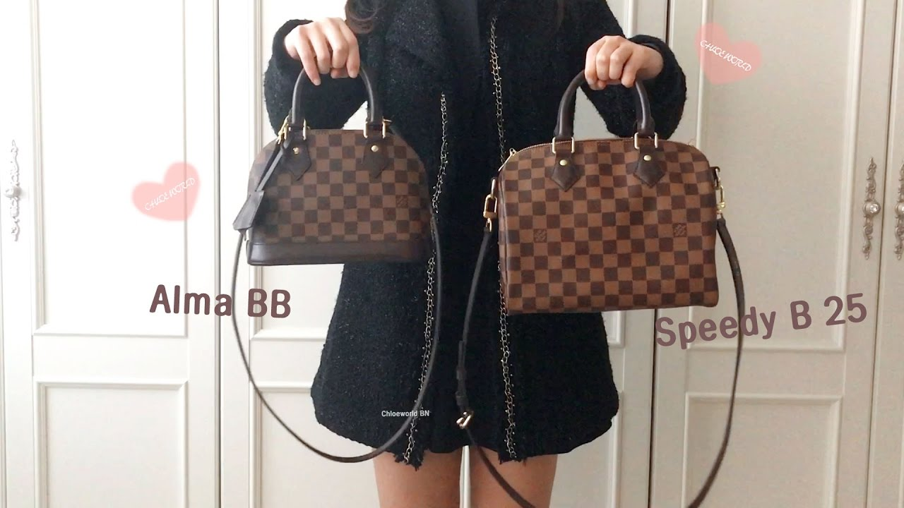 abe650b1c6c3 Louis Vuitton Comparison Alma BB VS Speedy B 25