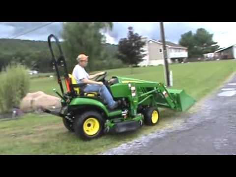 2017 John Deere 1026r Compact Tractor Loader Belly Mower Nice For