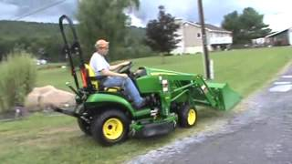 2012 John Deere 1026R Compact Tractor Loader Belly Mower Nice For Sale