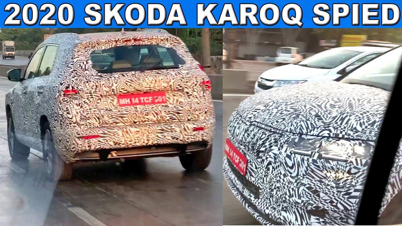 2020 Skoda Karoq Spied In India - YouTube