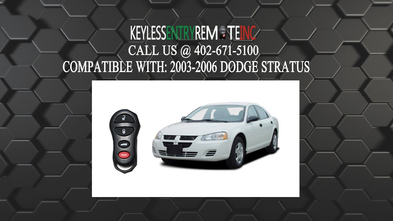 How To Replace Dodge Stratus Key Fob Battery 2003 2004