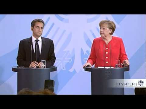 N. Sarkozy en conférence de presse à Berlin