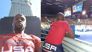 Floyd Mayweather Lives Like A King In Rio, Cheers On Team USA