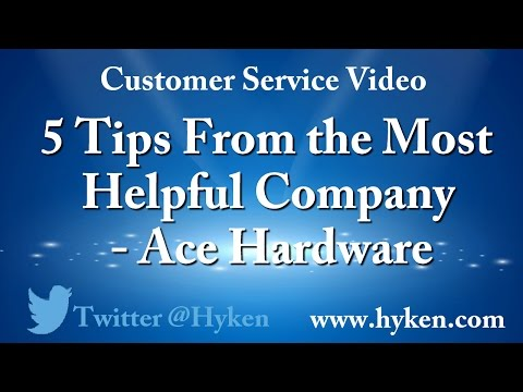 5 Customer Service Training Tips from Ace Hardware