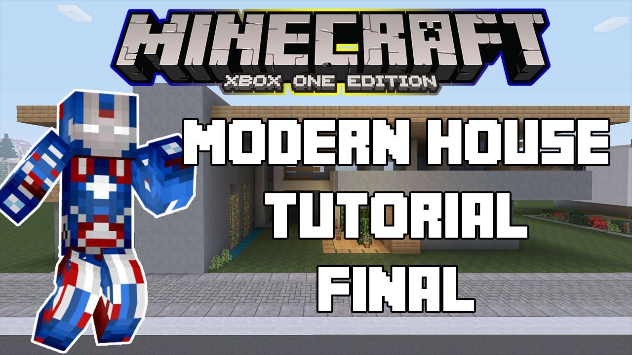 Minecraft xbox one modern house tutorial final xbox ps for Modern house tutorial xbox