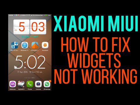 Xiaomi MIUI 7 8 9 How To FiX Solve 3rd Party Widgets Not Updating Or Working- Basic Tips & Tutorials