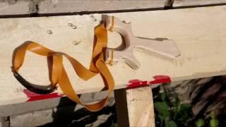 DIY Slingshot Как сделать рогатку из фанеры ПРОТОТИП V1.0