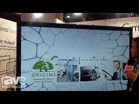 InfoComm 2016: Cima NanoTech Shows Large Format PCAP Products