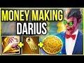 MONEY MAKING DARIUS! 25 MIN FULL BUILD EVERY GAME! (BROKEN GOLD FARMING) - League of Legends