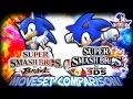 SC  Sonic in Smash Bros  4   3DS   Brawl Moveset Comparison