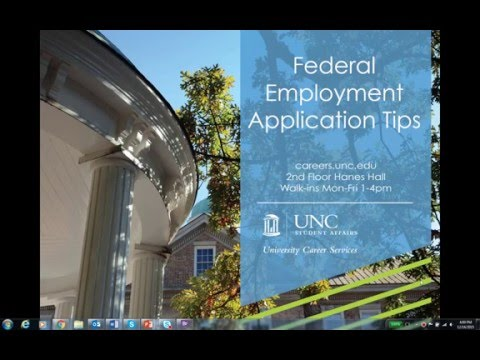 Federal Employment Application Tips